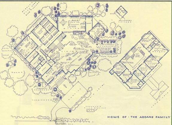 the unofficial addams family home floor plan page